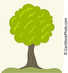 Green tree vector - Green tree growing. Vector illustration