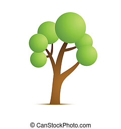 green tree vector icon