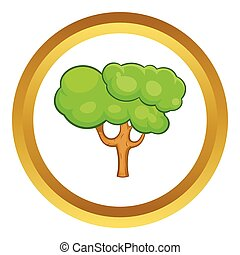 Green tree vector icon