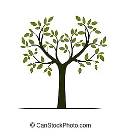Green Tree. Vector Illustration.