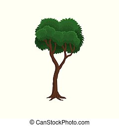 Green tree vector Illustration on a white background