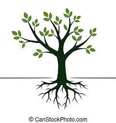 Green Tree. Vector Illustration