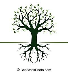 Green Tree. Vector Illustration