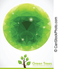 Green Tree with Polygon