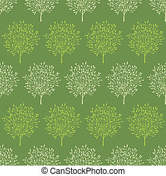 Green trees stripes seamless pattern background