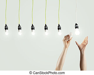 Green trend  - creativity  and energy concept