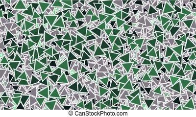 green triangles block mosaics wall,