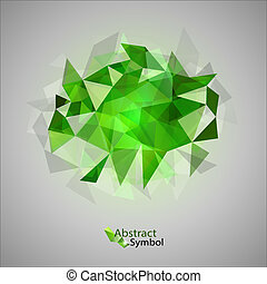 Green Triangles - Green triangles as abstract symbol on the...