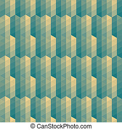 green triangles striped pattern