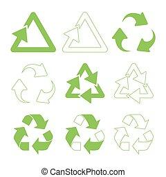 Green triangular recycle