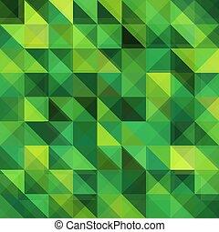 Green triangular vector grid pattern
