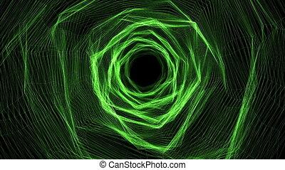 """""""Green Trigons forming a time portal"""" - """"Impressive 3d..."""
