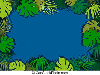 Green Tropical Leaves Background