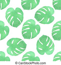 Green tropical pattern