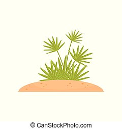 Green tropical plant vector Illustration on a white background