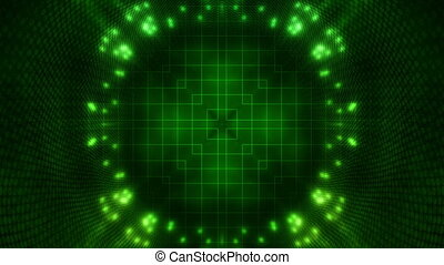 Green tunnel science fiction looping animated background