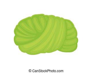 Green turban. Vector illustration on white background.