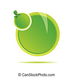 green two circle vector illustration