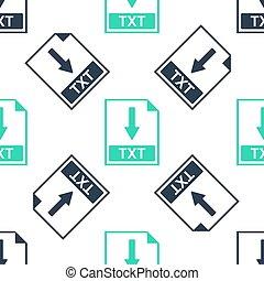 Green TXT file document icon. Download TXT button icon ...