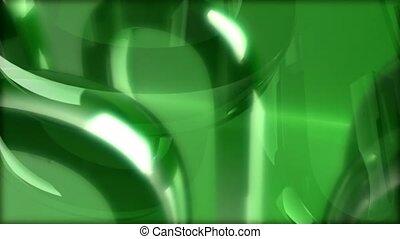 Green U shapes