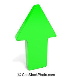 Green up arrow.