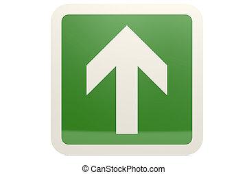 Green up arrow sign