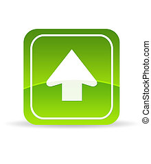 Green Upload Icon