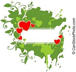 green valentines frame