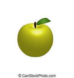 Green Vector Apple