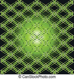 Green vector background grid