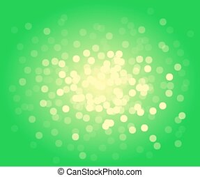 Green vector bokeh background