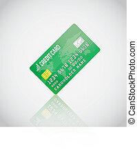Green Vector Credit Card