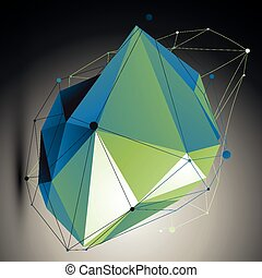 Green vector digital 3d abstraction