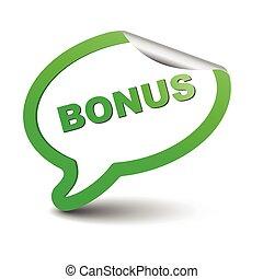 green vector element bubble bonus