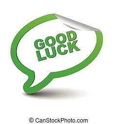 green vector element bubble good luck