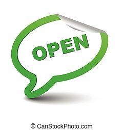 green vector element bubble open