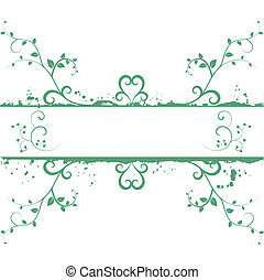 Green vector floral frame