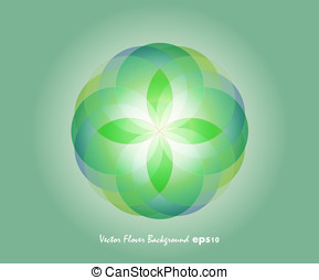 Green Vector Flover Background