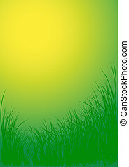 Green vector grass background