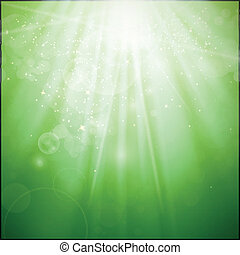 Green Vector Light Background - Vector Illustration of an...