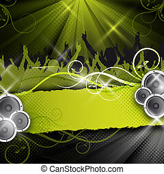 green vector party design