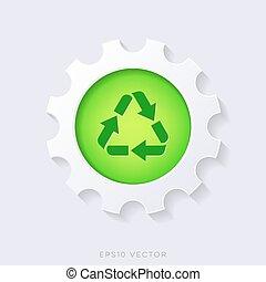 Green vector recycle symbol concept