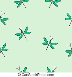 Green vector seamless pattern.