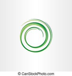 green vector spiral symbol