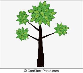 green vector tree