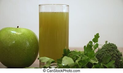 Green Vegetables Juice. Healthy Diet Detox Juice.