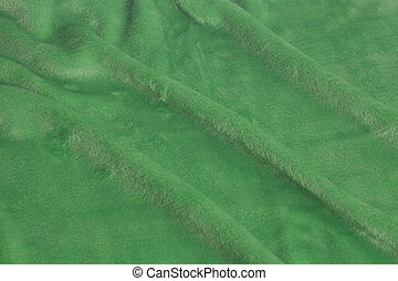 Green velvet fabric background texture