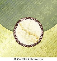 Green Victorian vintage emblem