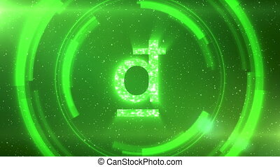 Green Vietnamese dong currency symbol on space background ...