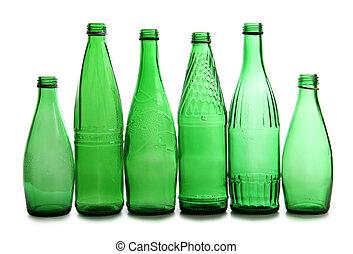 Green vine bottles